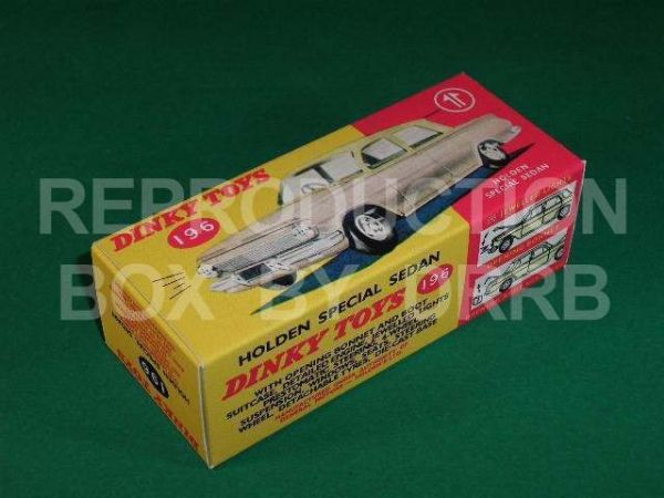 Dinky #196 Holden Special Sedan - Reproduction Box